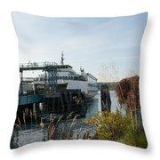 Bremerton Wa Ferry Doc Throw Pillow