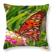 Brenda's Butterfly Throw Pillow