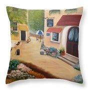 Brenda's Town Throw Pillow