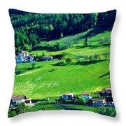 Brenner Pass Greenery Throw Pillow