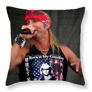 Bret Michaels In Philly Throw Pillow