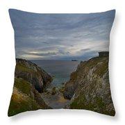 Bretagne Cliffs Throw Pillow