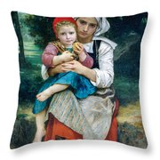 Breton Brother And Sister Throw Pillow