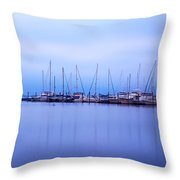 Brewer Yacht Yard At Cowesett Rhode Island Throw Pillow