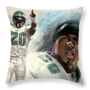 Brian Dawkins Throw Pillow by Viola El