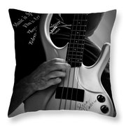 Brian Melvin Autographed Guitar Throw Pillow