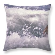 Brian Swimming In The Sea Throw Pillow