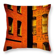 Brick And Glass Throw Pillow