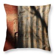 Brick And Metal Throw Pillow