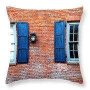Brick And Shutters Throw Pillow