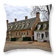 Brick House Tavern In Williamsburg Throw Pillow