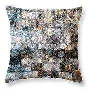 Brick Mosaic Throw Pillow by Stephanie Grant