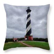 Brick Pathway To The Lighthouse Throw Pillow