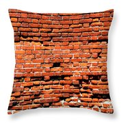 Brick Scarp Walls And Casement Gallery Throw Pillow