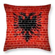Brick Wall Albania Throw Pillow