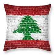 Brick Wall Lebanon Throw Pillow
