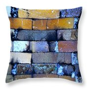 Brick Wall Of A Pottery Kiln Throw Pillow