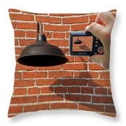 Brick Wall Snap Shot Throw Pillow
