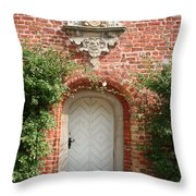 Brickcastle And White Door Throw Pillow