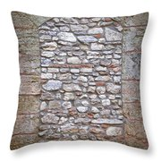 Bricked Up Doorway Throw Pillow