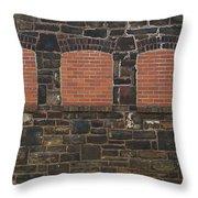 Bricked Windows   #2561 Throw Pillow
