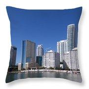 Brickell Skyline Throw Pillow