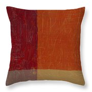 Bricks And Reds Throw Pillow by Michelle Calkins
