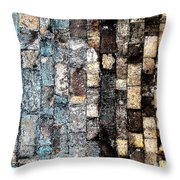 Bricks Of Turquoise And Gold Throw Pillow