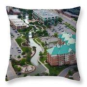 Bricktown Ballpark C Throw Pillow by Cooper Ross