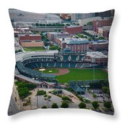 Bricktown Ballpark D Throw Pillow by Cooper Ross