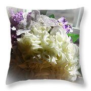 Bridal Butterfly Throw Pillow
