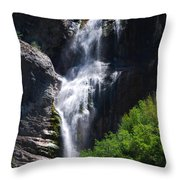 #bridalveilfalls Throw Pillow