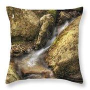 Bridal Veil Stream And Mossy Rocks - Heber Springs Arkansas Throw Pillow