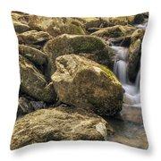Bridal Veil Stream - Heber Springs Arkansas Throw Pillow