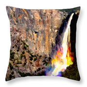 Bridalvail Falls Yosemite National Park Throw Pillow