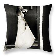 Bride I. Black And White Throw Pillow