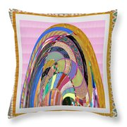 Bride In Layers Of Veils Accidental Discovery From Graphic Abstracts Made From Crystal Healing Stone Throw Pillow