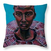 Bride - Portrait African Throw Pillow