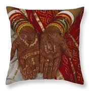 Brides Hands India Throw Pillow