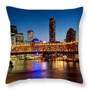 Bridge Across A River, Story Bridge Throw Pillow