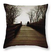 Bridge Ahead Throw Pillow