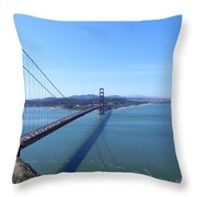 Bridge America Throw Pillow