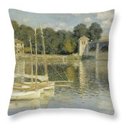 Bridge At Argenteuil Throw Pillow
