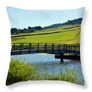 Bridge At Charmouth Throw Pillow
