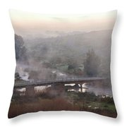 Bridge At Dawn Throw Pillow