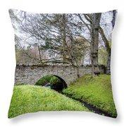 Bridge At Huntly Castle - 1 Throw Pillow