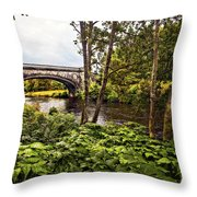 Bridge At Iveraray Castle Throw Pillow