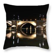 Bridge At Night Throw Pillow