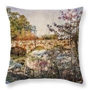 Bridge At Rock City Throw Pillow