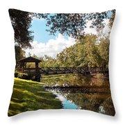 Bridge At Sawgrass Park Throw Pillow